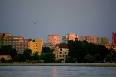 City, sun, sea, birds, beach, plaja, mare, oras, soare, apus, city, landscape, , constanta, seaside, sea, wate, blocks, living, people, city, town,
