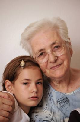 grandma, bunica, granddaughter, nepoata, people, aged, young, old, generations, girl, beautiful, old,