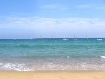 beach, plaja, soare, sun, water, apa, cald, hot, blue, cer, sky, albastru, mediterana, sea, mare, barcelona, spania, spain, surphing, surf