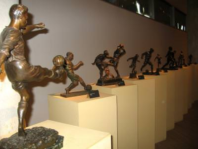footbal, soccer, statue, bronze, fotbal, meci, game, statue, bronz, action, actiune