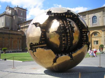 metalic, sphere, italy, rome, pi, geometry, art, shape, sfera, italia, roma, monument