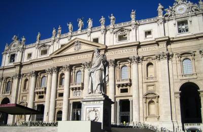 Saint, Peter\'s, Square, statue, basilica, cathedral, catolic, Vatican, Rome, Italy, church, religious, Piata, Sfantul, Petru, Roma, Italia, biserica, roman, statuie, pope, papa