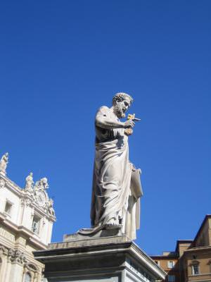 statue, key, Saint Peter, Vatican, Rome, Italy, rock, sculpture, statuie, cheie, Sfantul Petru, piatra, sculptura, Roma, Italia