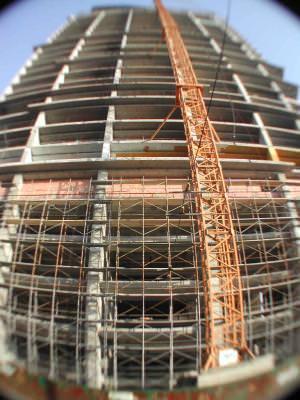 construction, site, schele, constructie, cer, albastru, blue, sky, industrie