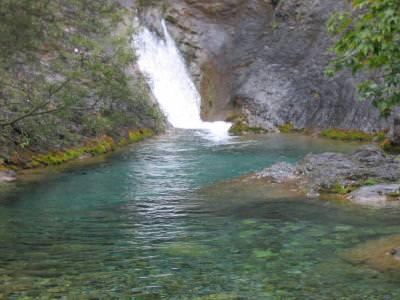 Olimp, cascada, waterfall, cascada, blue, lagoon