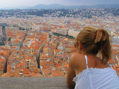 view, watch, city, panorama, girl, woman, up, see, buildings, town, vedere, oras, fata, femeie, sus, privire, cladiri