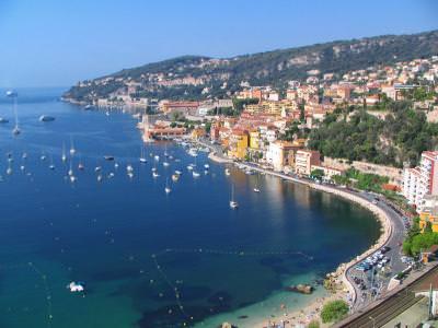 Villefranche-sur-Mer, city, gulf, sea, france, cote, azur,  port, boats, beach, water, franta, coasta, barci, plaja, apa, mare
