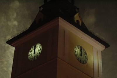 revelion, ceas, artificii, clock, tower, turn, ceas, time, night, noapte,