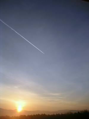 sky, sunset, plane, cer, apus, avion