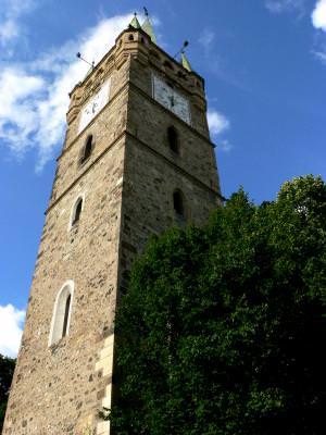 tower, turn, ceas, clok, sky, cer, blue, albastru