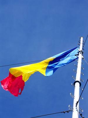flag, steag, romania, blue, sky, cer, albastru