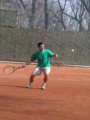 tennis, tenis, playing, joc, om, barbat, man, playfield, teren, ball, minge, expression, expresie