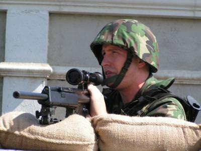 military, man, army, gun, action, armata, sniper, actiune, barbat, militar, trage, shoot, tintas, luneta, pusca, lunetist