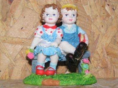 statue, statuie, little, boy, girl, children, copii, baiat fata