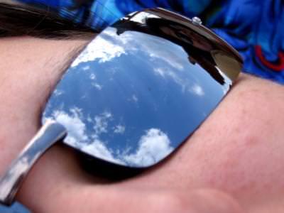 reflexie, nori, soare, ochelari, fata, face, sunglasses, , eflection, clouds,