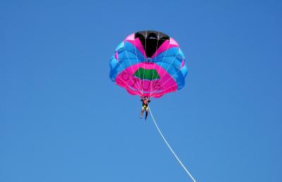 sport, parasuta, paraseiling,salupa, cer, albasteru, mare, concediu, vacanta, litoral, distractie, inaltime, sport extrem, sail, glide, sky, cer, blue, extreme, holiday, fun, height, hanging