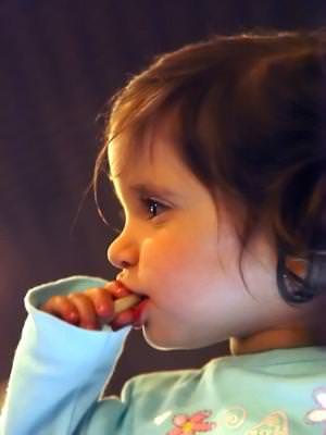 baby, child, profile, eating, sweet, girl, angel, face,