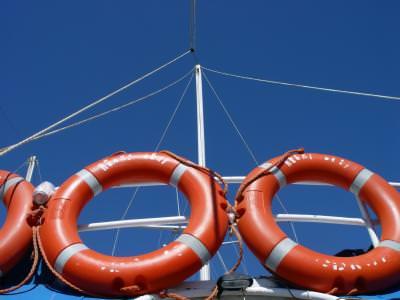 colac, salvare, rotund, contrast, rosu, albastru, barca, boat, lifeguard, ship, round, red, blue, cer, blue, sky,