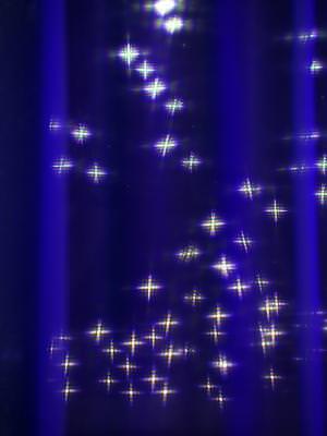 stele, lumini, spoturi, perdea, albastru, reflexie, reflection, stars, blurs, blue, bleo, glow, lights, spot,