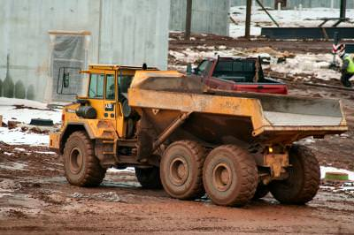 construction, mud, dump truck, build, Pennsylvania, PA, noroi, mizerie, cleaning, clean, collector, garbage, truck, machine, construction, site, tracktor,