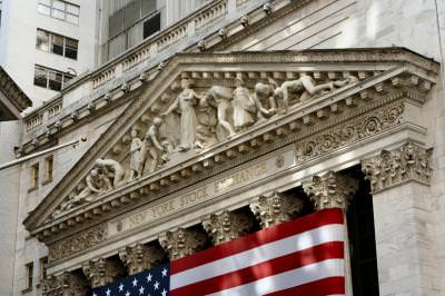 NYSE, New York Stock Exchange, stock exchange, financial district, flag, U.S. flag, stock, NYC, New York, outside, Manhattan, color,