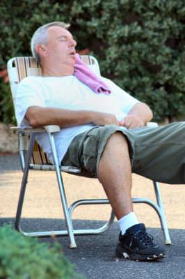 festival, Skippack, Pennsylvania, outside, color, people, fair, man, nap, sleep, towel, lawn, chair, rest, sleeping,