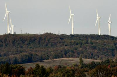 windmills, turbine, electricity, alternative energy, power, green, New York, rural, landscape, color, outside,