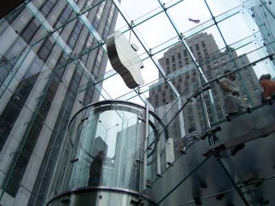 macintosh, apple, stairs, glass, building, modern, architecture, clear, computing, centre, new york