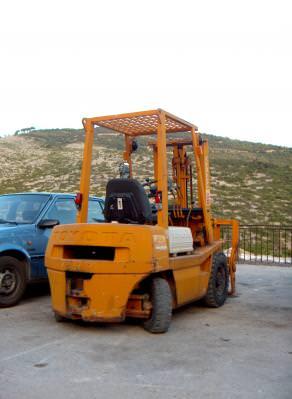 car, heavy, equipment, orange, wheels, roti, power, electricity