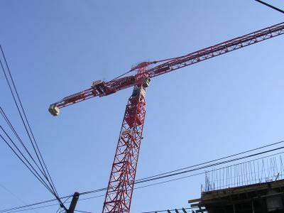 construction site, construction, crane, macara, blus sky, cer albastru, industrie, industry
