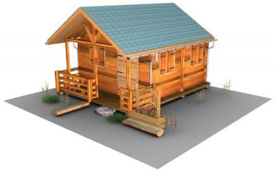 house, 3ds, max, object, wood, roof, log, fence, windows, door, casa, obiect, lemn, gard, ferestre, usa, gard, bustean