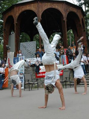 dance, show, moves, people, crowd, sport, enjoy, music, loud, open, space, park, upside, down,