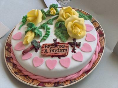 cake, tort, sweet, dulciuri, dulce, galben, pink, yellow, roz,