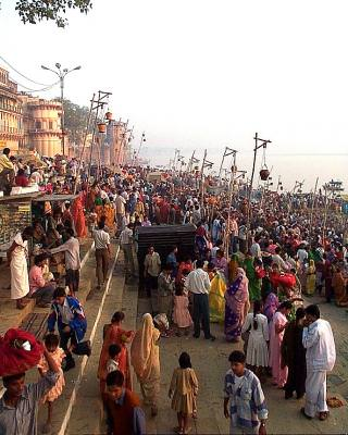 crowd, multime, people, oameni, river, apa, shore, mal, multime, market, place, piata, india