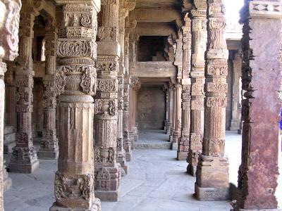 ruins, walls, temple, vechi, old, ruine, templu, coloane