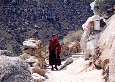 tibetan, monk, munte, mountains, climb, matanii, worship