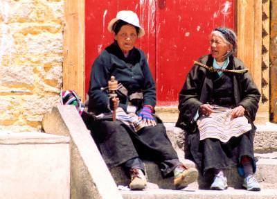 woman, tibetan, sitting, femei, batrane, elderly, toiag, poor, poverty