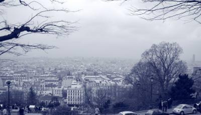 view, vedere, Paris, landscape, blue, albastru