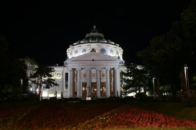 Romanian, Atheneum,  Bucharest, Romania, music, classic, building, night, garden, ateneul, roman, bucuresti, muzica, clasica, cladire