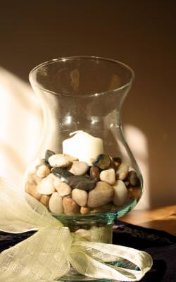 glass, decorative, decoration, stones, nice, keep, shine, relaxing, mood, atmosphere, table, light, lit, illuminated, composition, compose, house, room,