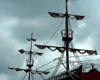 boat, ship, mast, barca, catarg