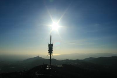 apus, barcelona, rasarit, sunrise, sunset,  apus, sunset, rasarit, apa, soare, sun, soare, antenna, wireless, communication, bright, light