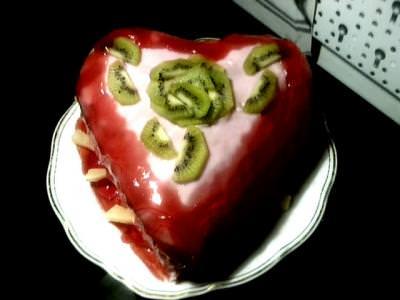 cake,heart,fruit,valentine,chocolate,shape