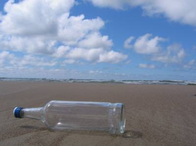 vodka, bottle, sea, water, sky, cer, apa, mare, bautura